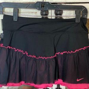 Nike pink and black tennis skirt